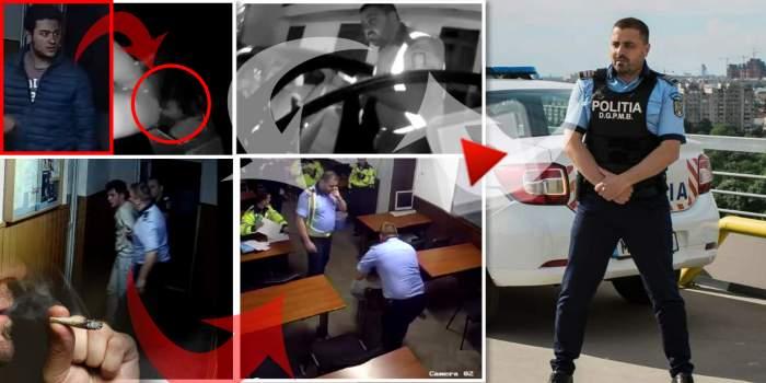 """VIDEO / Fiu de polițist prins cu marijuana, salvat de """"bombardierii"""" de la Secția 16 / În loc să-l încătușeze, l-au folosit ca martor, în dosarul de tortură"""