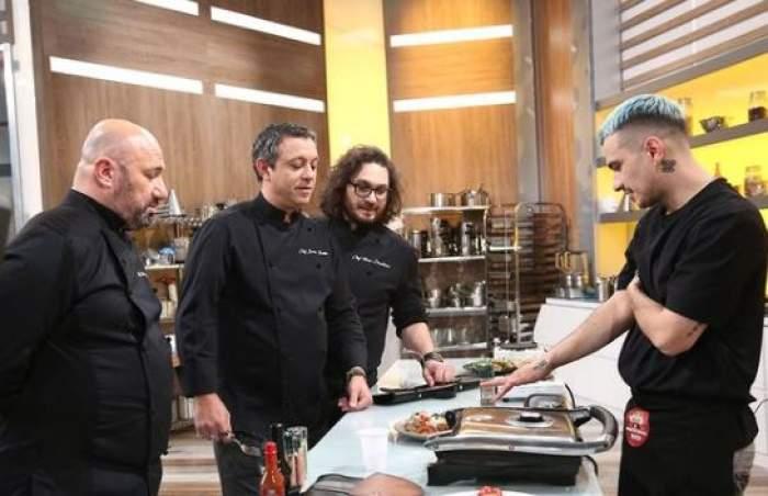Keed alături de cei trei jurați la Chefi la cuțite.