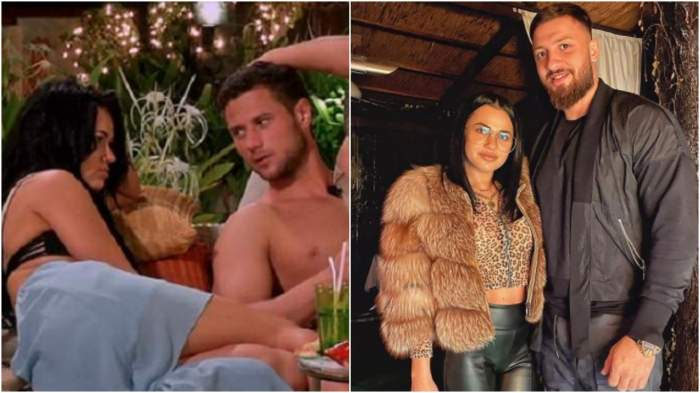 Colaj cu Deea și Tomiță la Insula Iubirii/ Deea Ienciu și noul său iubit.