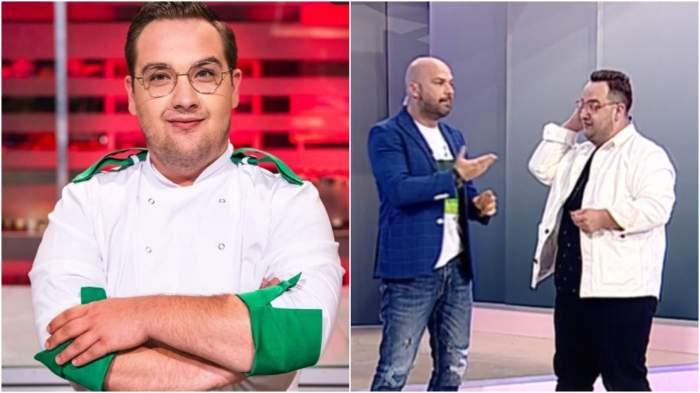 Colaj cu Răzvan Babană la Chefi la cuțite/ Răzvan Babană alături de Andrei Ștefănescu.