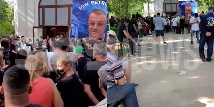 Sute de oameni s-au adunat la înmormântarea lui Ion Petrișor! Au venit să-i aducă un ultim omagiu impresarului maneliștilor / VIDEO