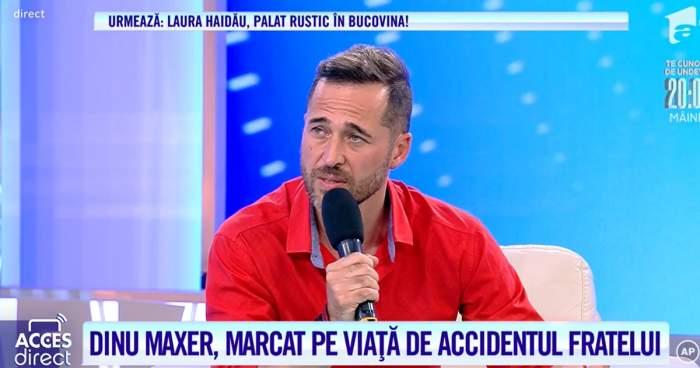 Acces Direct. Drama trăită de Dinu Maxer. Cântărețul și-a pierdut fratele atunci când el avea vârsta de 14 ani / VIDEO