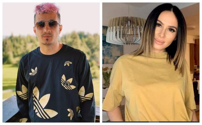 Keed este pe balcon, afara, are hanorac negru, Andra Mihail este in casa, are un tricou bej, parul desprins