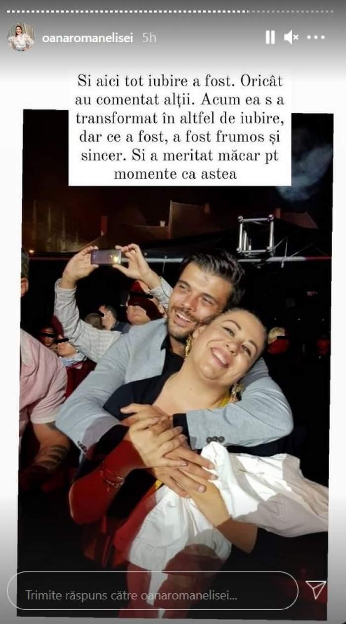 O poză cu Oana Roman și Marius Elisei de când erau împreună. Cei doi se țin în brațe.