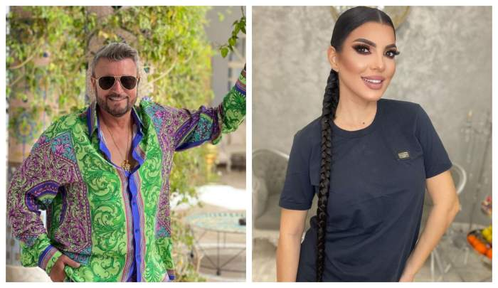 Catalin Botezatu este in gradina, are o camasa colorata, Andreea Tonciu poarta un tricou negru si parul impletit