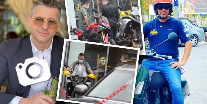 """""""Iepurașul"""" a venit mai târziu pentru Adi Sînă! Artistul a apelat la fiul său și Lucian Mitrea pentru a-și cumpăra o motocicletă pe gustul lui / PAPARAZZI"""