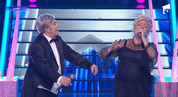 Adriana Trandafir și Romica Tociu s-au transformat in Stefan Banica Senior și Ileana Sararoiu la Te cunosc de undeva