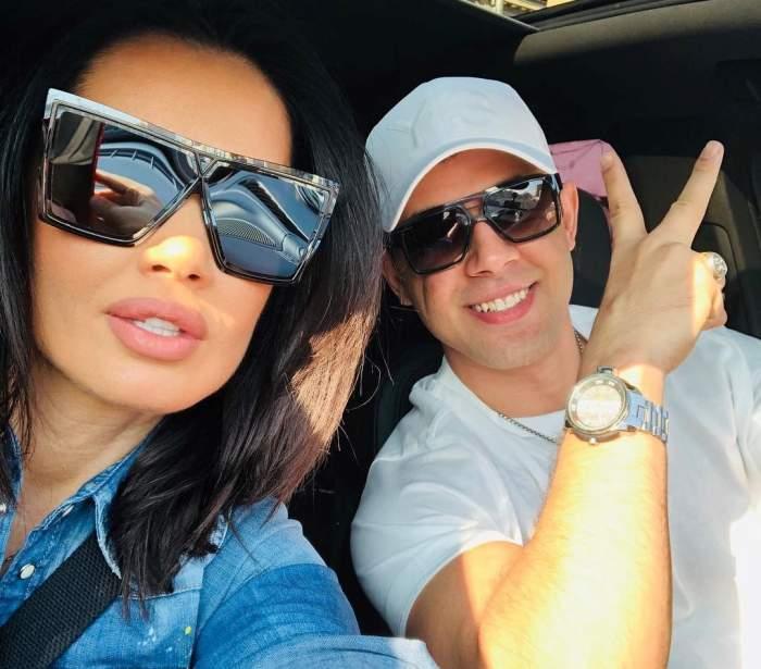 Oana Zăvoranu și Alex Ashraf în mașină.