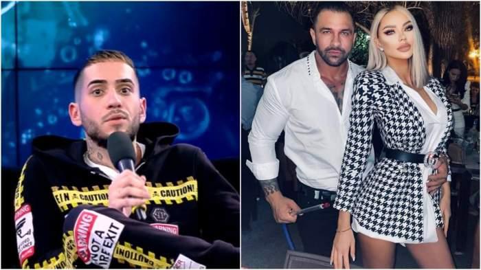 Colaj cu Fulgy în platou/ Bianca Drăgușanu și Alex Bodi când erau împreună.
