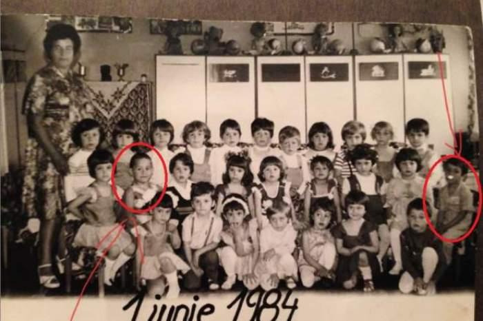 Răzvan Simion și Dani Oțil în copilărie, când erau la școală.