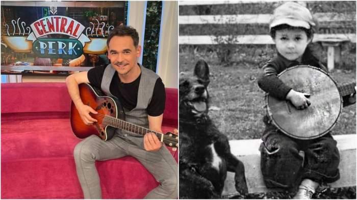 Colaj cu Răzvan Simon în prezent și când era copil.