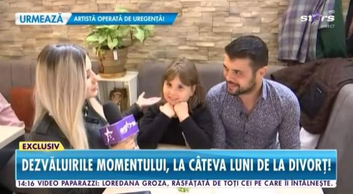 Marius Elisei și fiica sa în timpul unui interviu.