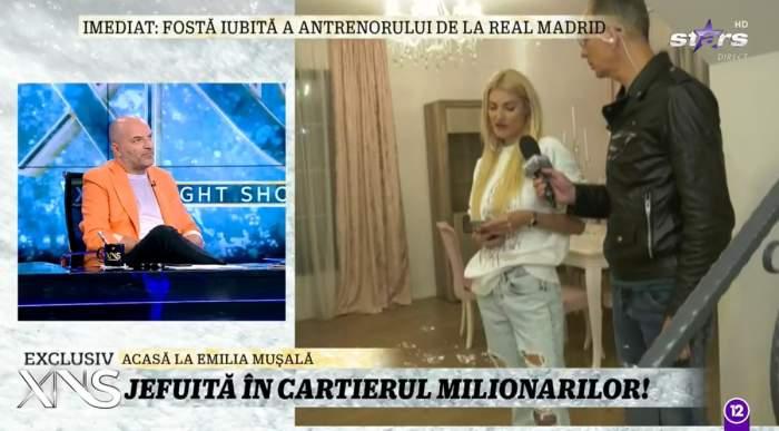 Imagini exclusive la Xtra Night Show din casa Emiliei Mușală, artista jefuită de hoți. Paguba ajunge la 60.000 de euro / VIDEO