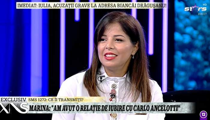 Marina Crețu, adevărul despre relația cu Carlo Ancelotti, celebrul antrenor! Cei doi au fost împreună 7 ani / VIDEO