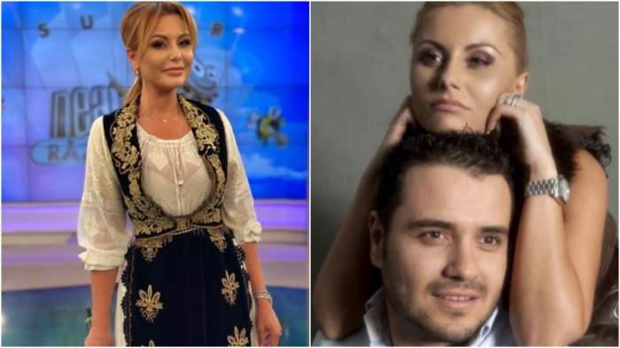 Colaj cu Emilia Ghinescu în port popular/ Emilia Ghinescu și iubitul său.