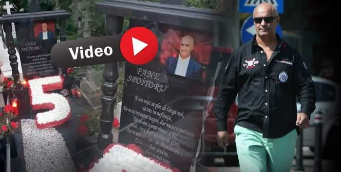 VIDEO / Blestemul teribil aruncat la mormântul lui Fane Spoitoru / Comemorare cu scântei
