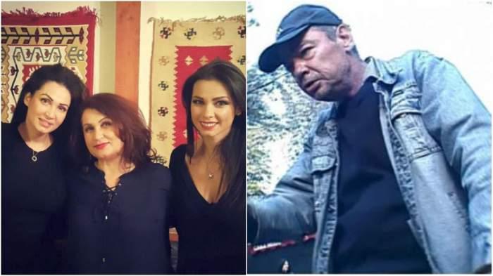 Colaj cu Nicoleta și Iuliana Luciu alături de mama lor/ Tatăl Nicoletei Luciu, cu cămașă albastră.