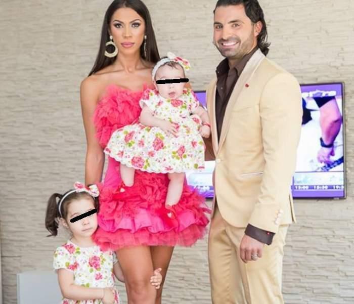 Pepe alături de Raluca Pastramă și fiicele sale, în perioada în care formau un cuplu.