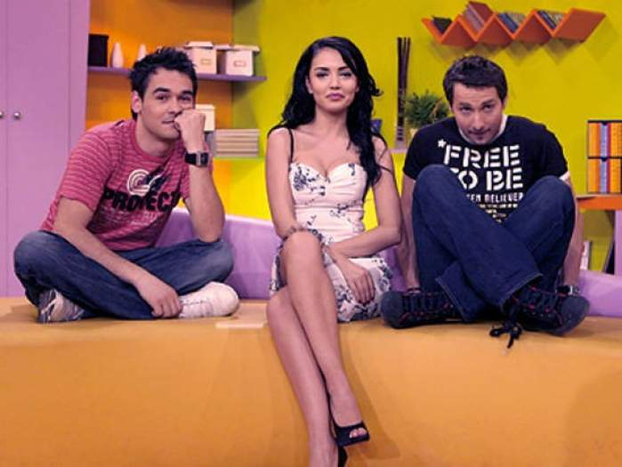 Andreea Mantea când era asistentă la Neatza cu Răzvan și Dani, ședință foto.