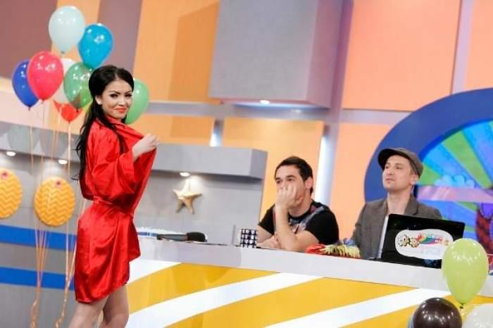 Andreea Mantea când era asistentă la Neatza cu Răzvan și Dani.