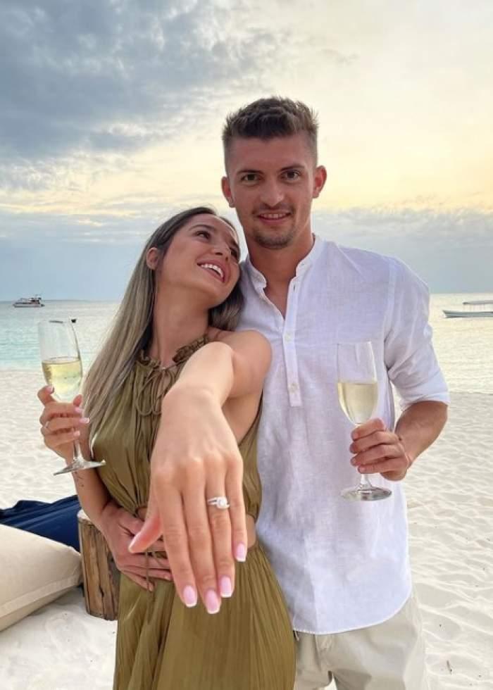 florin tanase si iubita lui s au logodit
