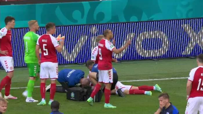 Cel mai șocant moment al anului în fotbalul european. Christian Eriksen, fără suflare, resuscitat de medici