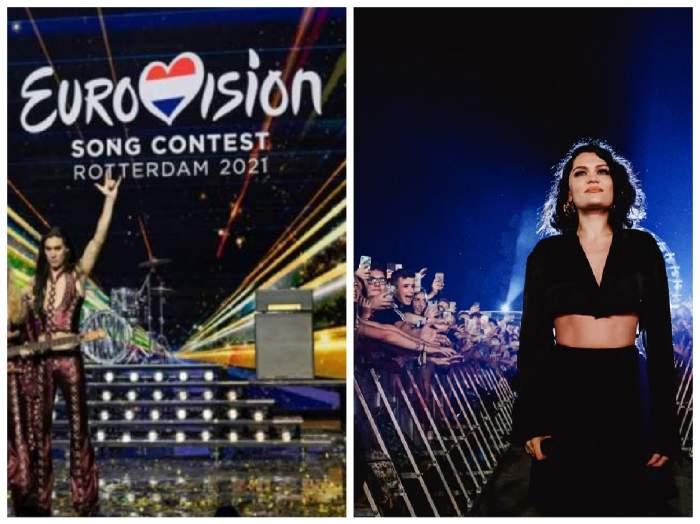 colaj cu scena eurovision și Jessie J