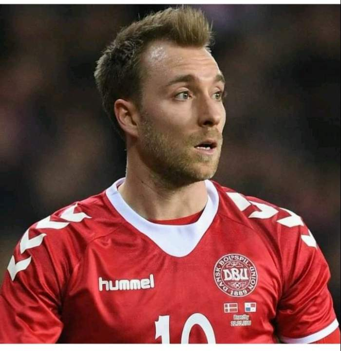 Christian Eriksen pe terenul de fotbal