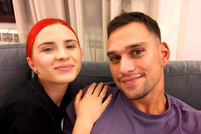 Cristina Ciobănașu și Vlad Gherman în perioada în care formau un cuplu, selfie.