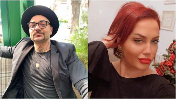 Colaj cu Cristi Mitrea cu pălărie/ Andreea Caranda, selfie.