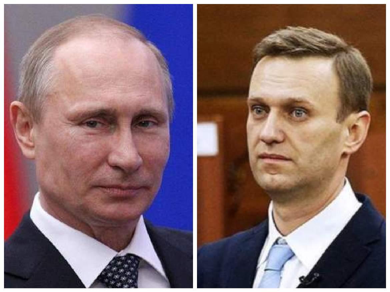 colaj cu Vladimir Putin și Aleksei Navalnîi