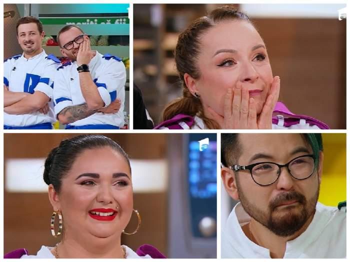 colaj cu semifinaliștii  chefi la cuțite în lacrimi