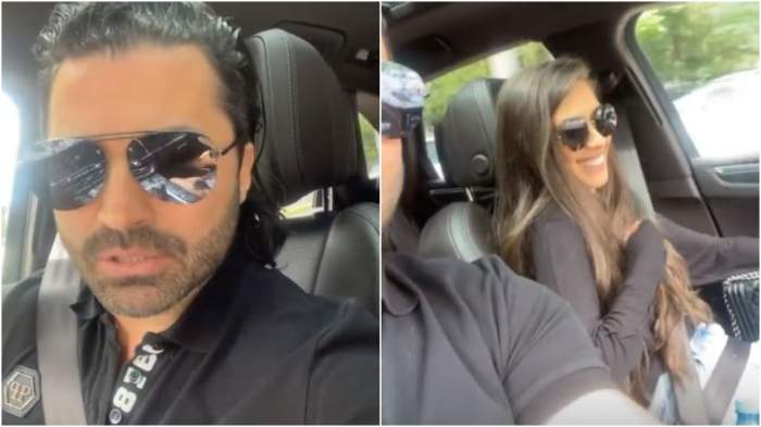 Pepe alături de Yasmine, în mașină.