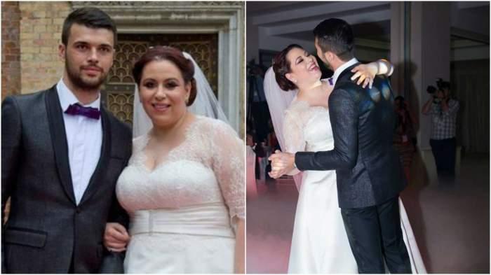 Colaj cu Oana Roman și Marius Elisei de la nunta lor.