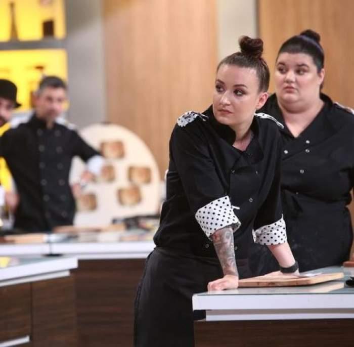 Roxana Blenche în bucătăria Chefi la cuțite.