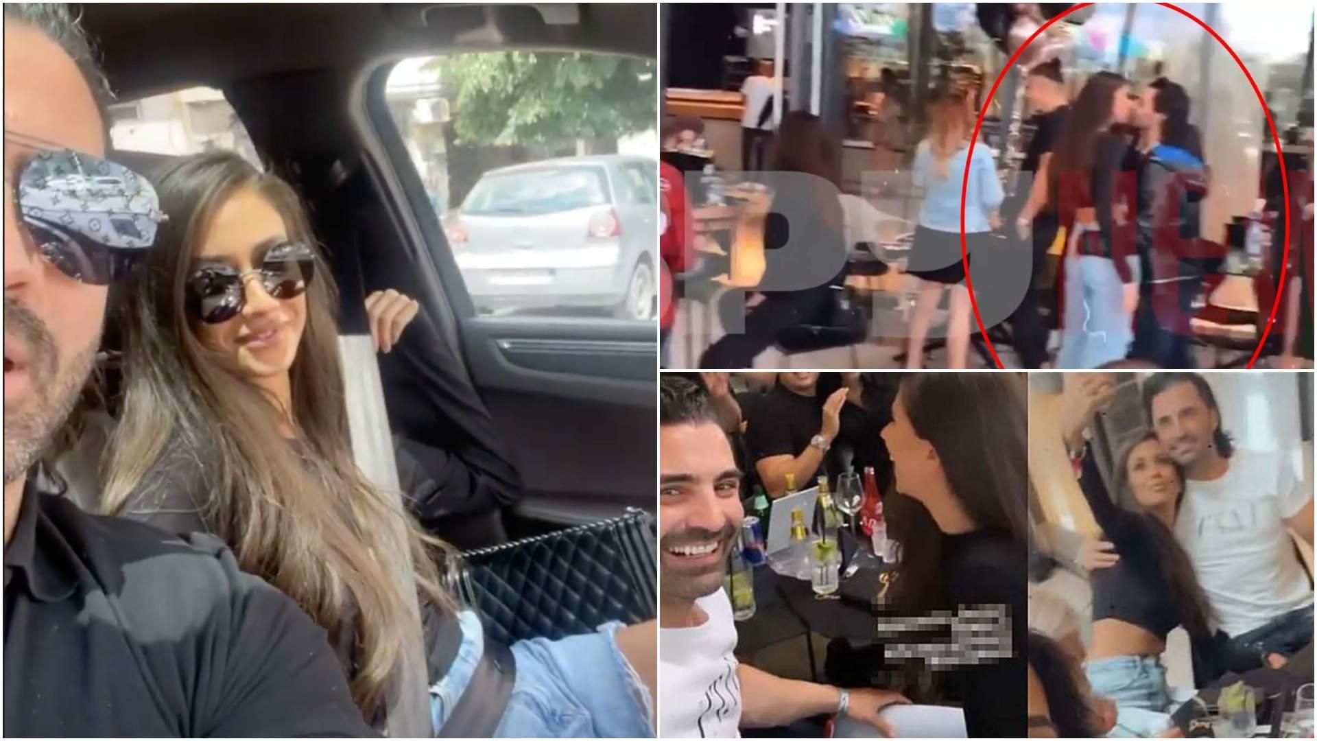Colaj cu Pepe și Yasmine împreună, în mașină și când se sărută.
