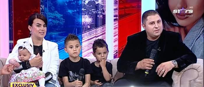 Răzvan de la Pitești, soția și cei trei copii la Antena Stars