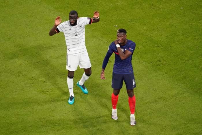 Jucătorul Paul Pogba, mușcat de un adversar în timpul meciului Franța vs. Germania. Cum a reacționat arbitrul / VIDEO