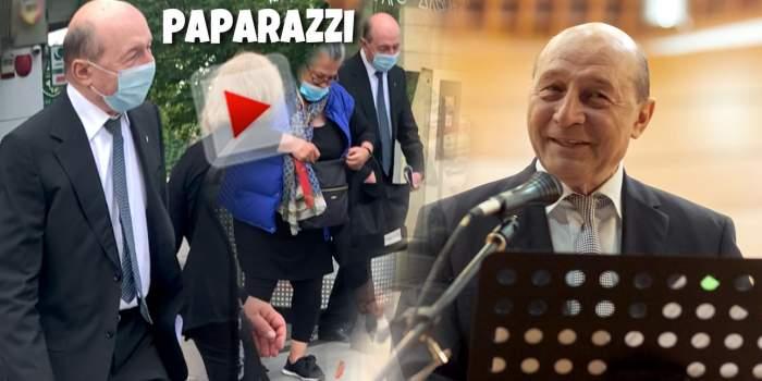 """Traian Băsescu știe cum să """"cucerească"""" poporul. Fostul președinte își face prieteni și când merge la bancă / PAPARAZZI"""