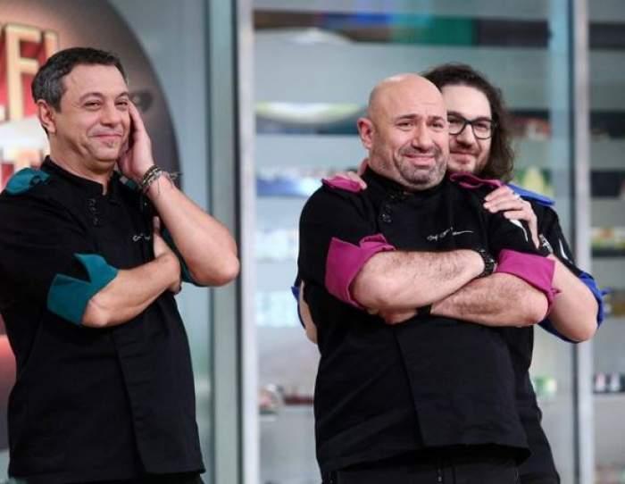 Cătălin Scărlătescu alături de Florin Dumitrescu și Sorin Bontea.