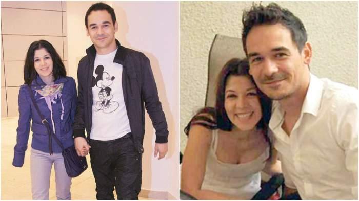 Colaj cu Răzvan Simion și fosta sa soție, când erau împreună.