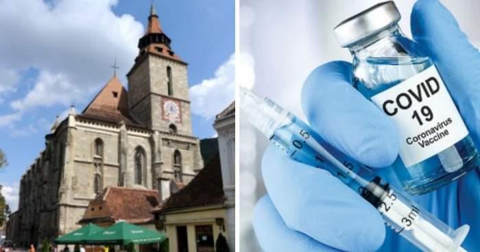 Biserica Neagră, primul lăcaș de cult unde românii se pot imuniza împotriva virusului Covid-19. Când va fi deschis