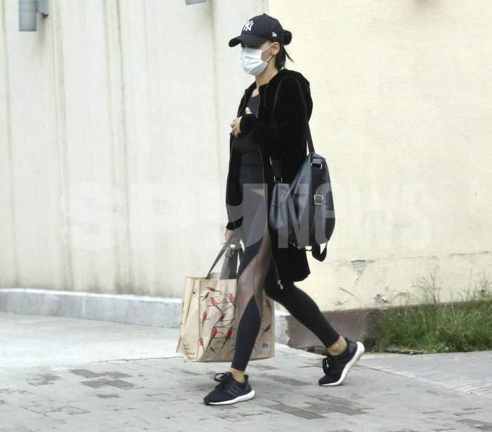 Lavinia Pîrva e AS la shopping, dar nu prea se descurcă la șofat. Partenera lui Ștefan Bănică Jr. a încălcat legea de dragul sportului, în plină stradă / PAPARAZZI