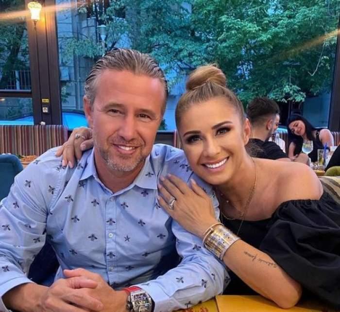 Anamaria Prodan și Laurențiu Reghecampf, când erau împreună, la restaurant.