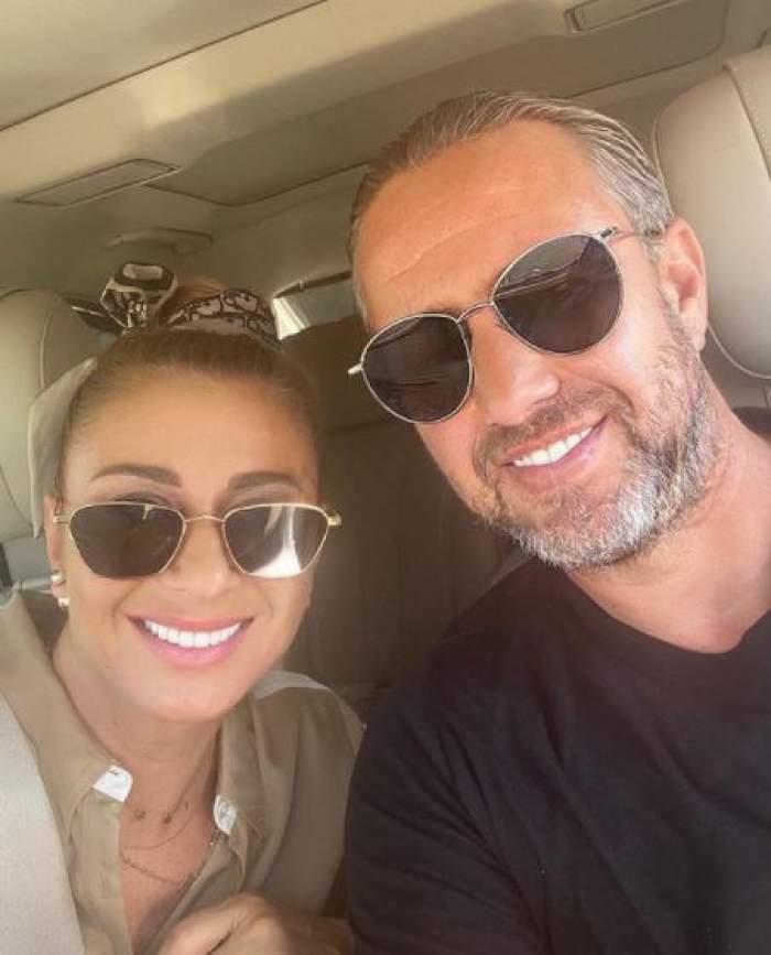 Anamaria Prodan și Laurențiu Reghecampf, selfie, când erau împreună.