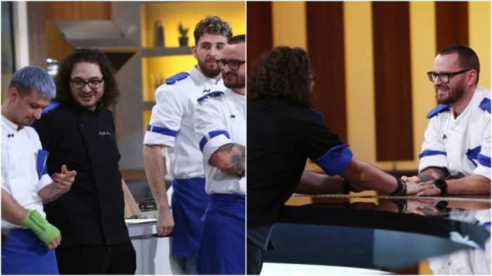 Colaj cu Florin Dumitrescu alături de concurenții de la Chefi la cuțite.