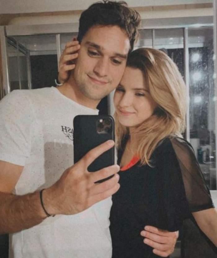 Vlad Gherman și Cristina Ciobănașu, în perioada în care formau un cuplu.