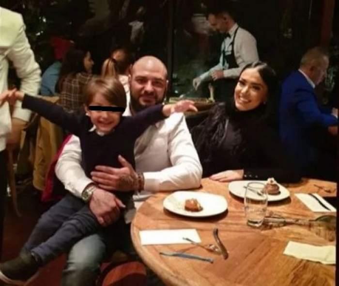 Andreea Mantea alături de Cristi Mitrea și fiul ei, când erau împreună.