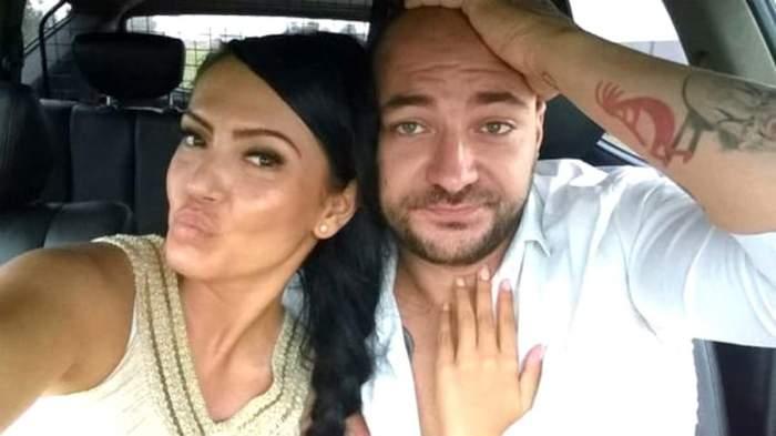 Andreea Mantea și Cristi Mitrea, când erau împreună, selfie.