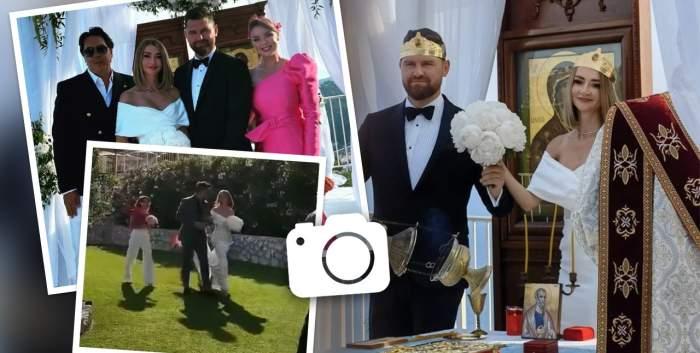 Imagini de la nunta Denisei Tănase cu Mircea Brânzei. Ce ținute au ales mirii în cea mai importantă zi din viața lor